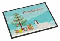 Skye Terrier Christmas Indoor or Outdoor Mat 18x27