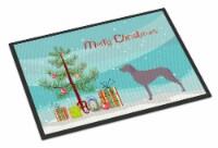 Carolines Treasures  BB8442MAT Weimaraner Christmas Indoor or Outdoor Mat 18x27