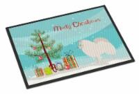 German Spitz Christmas Indoor or Outdoor Mat 18x27 - 18Hx27W