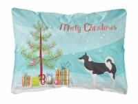 Greenland Dog Christmas Canvas Fabric Decorative Pillow - 12Hx16W