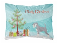 Schnauzer Christmas Canvas Fabric Decorative Pillow