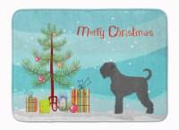 Black Russian Terrier Christmas Machine Washable Memory Foam Mat