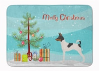 American Toy Fox Terrier Christmas Machine Washable Memory Foam Mat