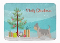 Australian Silky Terrier Christmas Machine Washable Memory Foam Mat