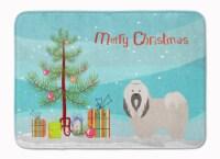 Lhasa Apso Christmas Machine Washable Memory Foam Mat