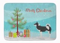 "Greenland Dog Christmas Machine Washable Memory Foam Mat - 19 X 27"""