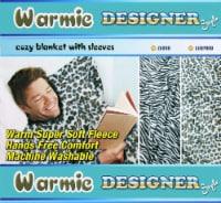 Warmie Designer Cozy Blanket with Sleeves (Zebra) - 1