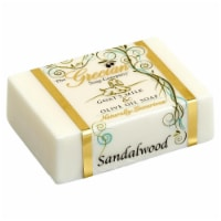 Greciansoap GMS-23 5 oz Sandalwood Goats Milk Soap Bar - 1