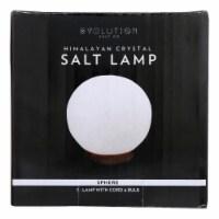 Evolution Salt - Salt Lamp Sphere White - 6 LB - Case of 1 - 1 EA each