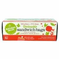 Natural Value Color Grip Reclosable Sandwich Bags / 6-Pack / 240-ct. - 240 ct.