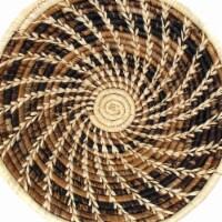 Gitzell GZFBN3-DS Woven Sisal Basket, Wheat Stalk Spirals in Natural