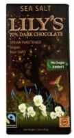 Lily's Dark Chocolate with Stevia Sea Salt -- 2.8 oz - 2 pc - 2 Bars/ 2.8 Ounce