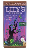 Lily's Sweets Salted Almond and Milk Chocolate Bar, 3 oz