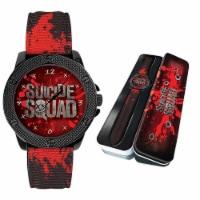 DC Comics Suicide Squad Wristwatch Movie Collectible Warner Bros Watch Red/Black - 1 unit