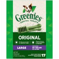 Greenies Original Large Dog Dental Treats 17 Count - 27 oz