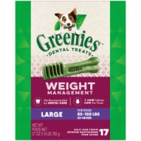 Greenies Weight Management Large Dog Dental Treats - 17 ct