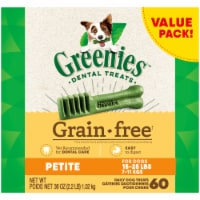 Greenies Grain-Free Petite Dog Dental Treats Value Pack
