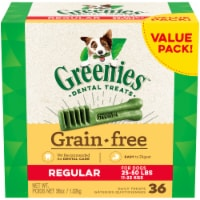 Greenies Grain Free Regular Dog Dental Treats Value Pack