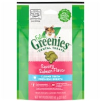 Feline Greenies Savory Salmon Flavor Dental Treats for Cats