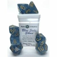 Role 4 Initiative R4I50606-7B Blue Jade Shoes Dice - Set of 7 - 1