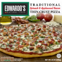 Edwardo's Spinach & Applewood Bacon Thin Crust Pizza