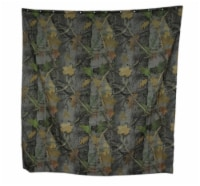 Realtree Camouflage Print 70 Inch X 72 Inch Shower Curtain With 12 Rings - One Size