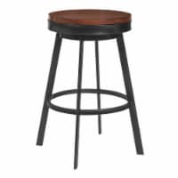 Topeka 30 Bar Height Barstool in Mineral Finish and Walnut Wood Seat - 1