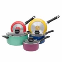 Proctor Silex 8 Piece Multi Color Aluminum Kitchen Pots & Pans Cookware Set - 1 Unit