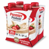 Premier Protein Strawberries & Cream Shakes 4 Count