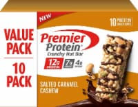 Premier Protein Salted Caramel Cashew Crunchy Nut Bars 10 Count