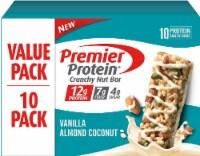 Premier Protein Vanilla Almond Coconut Crunchy Nut Bars 10 Count