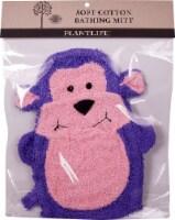 Plantlife Ramie Soft Cotton Bathing Mitt Monkey
