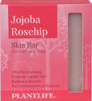 Plantlife Jojoba Rosehip Skin Bar Soap for Face and Body - 4 oz