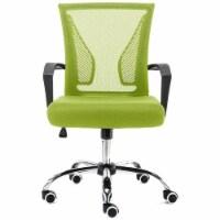 Modern Home Zuna Ergonomic Mesh Mid Back Office Desk Rolling Chair, Black & Lime - 1 Piece
