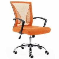 Modern Home Zuna Ergonomic Mesh Back Office Desk Rolling Chair, Black & Orange - 1 Piece
