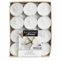 Enticing Aromas Cozy Cotton Scented Tea Light Candles - White