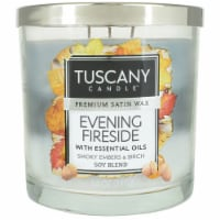 Tuscany Candle Evening Fireside Scented Triple Pour Jar Candle