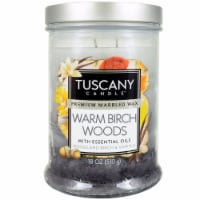 Tuscany Candle Warm Birch Woods Scented Triple Pour Jar Candle