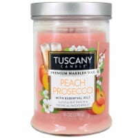 Tuscany Candle Peach Prosecco Scented Jar Candle
