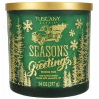 Tuscany Candle Seasons Greetings Winter Pine Frosted Jar Candle - Green