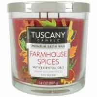 Tuscany Farmhouse Spices Premium Satin Wax Candle