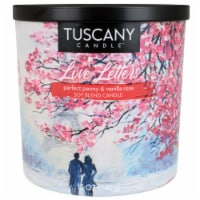 Tuscany Candle Love Letters Perfect Peony & Vanilla Rose Soy Blend Candle