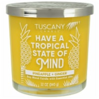 Tuscany Candle Tropical State of Mind Pineapple + Ginger Soy Blend Candle