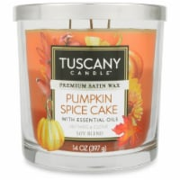 Tuscany Candle Limited Edition Pumpkin Spice Cake Scented Triple Pour Jar Candle - 14 oz