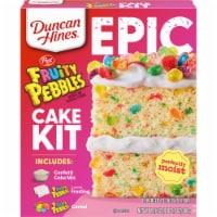Duncan Hines Epic Fruity Pebbles Cake Mix Kit