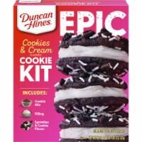 Duncan Hines Epic Cookies & Cream Flavored Cookie Mix Kit - 22.05 oz