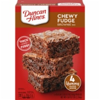 Duncan Hines Chewy Fudge Brownie Mix 4 Count - 4 ct / 19.9 oz