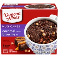 Duncan Hines Mug Cakes Caramel Brownie Mix 4 Count