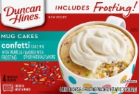 Duncan Hines Confetti Cake with Vanilla Frosting Mug Mix 4 Count - 12.7 oz