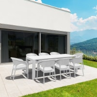 Compamia Panama 9 Piece Extendable Patio Dining Set in White - 1